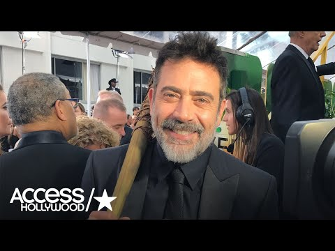 Video Golden Globes: 'Walking Dead's' Jeffrey Dean Morgan Poses With 'Lucille,' Teases Midseason Premiere download in MP3, 3GP, MP4, WEBM, AVI, FLV February 2017