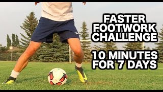 How to improve your footwork in soccer  Soccer drills for faster soccer footwork  Football footwork drills to improve your football skills and make your feet faster ► In this video, I will give you a football footwork routine that will only take 10 minutes per day using 10 different soccer drills for faster soccer footwork and will help you improv your soccer footwork quickly.Other Progressive Soccer videos related to this topic:20 Fast Footwork Soccer Drills - 1000 Touches In 20 Minutes  = https://www.youtube.com/watch?v=r_tEXmClvKI15 soccer footwork drills to UPGRADE your soccer moves and tricks = https://www.youtube.com/watch?v=0Zj3hhiYF0cFast Footwork Soccer Drills - How To Get Faster Footwork = https://www.youtube.com/watch?v=qkCQ4Q4LrtQSoccer Footwork Drills For Feet Like Ronaldo = https://www.youtube.com/watch?v=UmMYDf6oJBkFast Footwork - Best Ways To Improve Fast Footwork For Soccer = https://www.youtube.com/watch?v=qXz5t9pZf8c13 Soccer Drills To Improve Touch , Ball Control , And Footwork = https://www.youtube.com/watch?v=lft7AfeFIuQAre you new to Progressive Soccer?Subscribe so you never miss a new training video:► http://www.youtube.com/subscription_center?add_user=ProgressiveSoccerGet started with this FREE 7 day training course:► http://www.progressivesoccertraining.comReady to take your game to the next level?Get more information about my advanced training course:► http://www.matchwinnermethod.com If you have any questions you'd like to ask me you can:1) Comment on this video2) Send me a message on social media (any of the accounts above)3) Send me an email at info@progressivesoccertraining.comStay connected on social media!Facebook:► Join the group: https://www.facebook.com/747642591984051► Like the page: http://www.facebook.com/prosoccertraining► Follow Dylan: http://www.facebook.com/dylantoobyInstagram:► Progressive Soccer: http://www.instagram.com/ProgressiveSoccer► Dylan's personal profile: http://www.instagram.com/DylanTooby► @progressivesoccer +