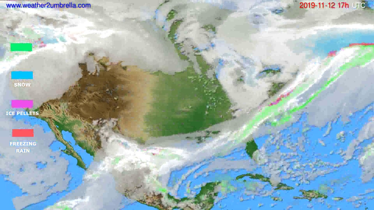 Precipitation forecast USA & Canada // modelrun: 12h UTC 2019-11-11