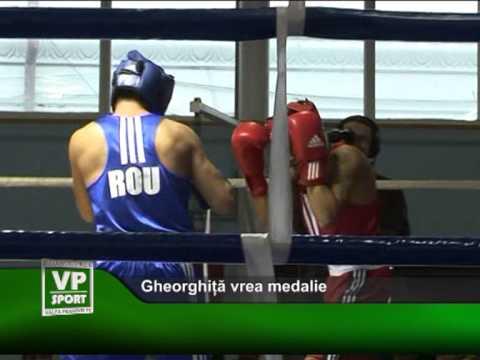 Gheorghiță vrea medalie