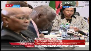 World View 30th August 2016 - MUTUNGA SUCCESSION: Candiadtes for position of CJ being interviewed