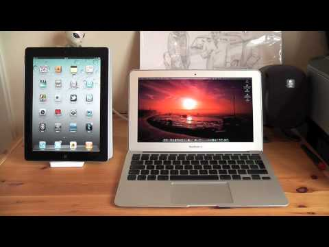 macbook air 2012 11 inch - http://www.mrthaibox123.com Apple MacBook Air 11 inch vs iPad 2 Comparison Showdown Follow me on Twitter @tfaiso and also check out http://mrthaibox123.com M...