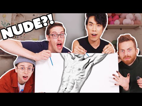 The Try Guys Try Drawing Male Models
