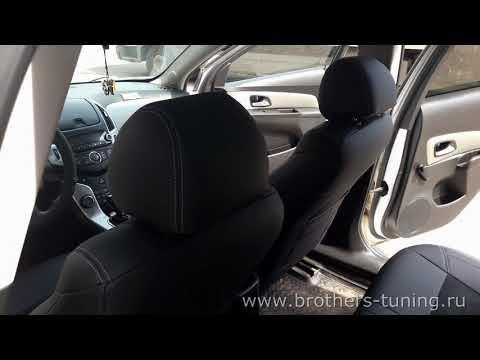 """Чехлы на Chevrolet Cruze, серии """"Alcantara"""" - серая строчка"""
