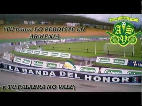 ARTILLERIA VERDE SUR AMOR LE77AL..avi - Artillería Verde Sur - Deportes Quindío