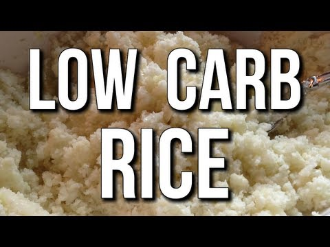 Low-Carb Rice Substitute:  Amazing for Cutting & Weight Loss