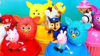 Vamos aprender as CORES e os numeros em português e inglês com caixas surpresas e brinquedos Patrulha Canina, Peppa Pig e FURBIES!  Varios episodios completos em portugues! ►http://www.happytoystv.net  e não perca os próximos vídeos. Patrulha Canina aprendendo as cores abrindo brinquedos surpresas em portugues! Patrulha Canina  (PAW Patrol) é uma série de animação infantil canadense americana criada por Keith Chapman. Foi estreada nos Estados Unidos no dia 12 de agosto de 2013 na Nick Jr. e no Canadá foi estreada em 2 de setembro de 2013 na TVOKids.Patrulha Canina é um desenho animado, onde Ryder lidera 6 cachorros heróicos: Ryder, Rubble, Zuma, Marshall, Everest e Rocky.Patrulha Canina é um desenho da Nickelodeon sobre 6 cachorrinhos Ryder, Marshall, Rubble, Chase, Rocky, Zuma e a Skye e um menino Ryder.Patrulha Canina também chamado de Paw Patrol, La Pat' Patrouille, Psi Patrol, Patrulla de Cachorros, Squadra Zampa, Щенячий патруль, A mancs őrjárat, Patrulla de los Carachos, Patrulla de la Pata, 爪子巡逻, chân tuần tra, patte patrouille, 足のパト, ロール, tass patrull, Pfote Patrouille, pata de patrulha, лапа патруль, patróil lapa, klou patrollie, dorëshkrim patrullë, labă de patrulare, шапа патрола, La squadra dei cuccioli. Peppa é uma porquinha linda e amorosa tem 5 anos de idade e adora se divertir com seus pais, Papai Pig e Mamãe Pig , e seu irmãozinho George.Ela adora brincar de se fantasiar e passa o dia saltando entre poças de lama ao redor de sua casa. Suas aventuras sempre terminam com muitas gargalhadas!George Pig - irmão de 3 anos de Peppa, que adora brincar com sua irmã mais velha. Seu brinquedo favorito é um dinossauro, que ele leva para toda parte. Costuma chorar quando se assusta ou quando perde o seu amigo dinossauro.Para não perder nenhum vídeo, inscreva-se:  http://www.happytoystv.netMassinhas PlayDoh Patrulha Canina Brinquedos Surpresas aprendendo as CORES em Portugues e Ingleshttps://www.youtube.com/watch?v=QioMrmCb1Jk&list=PLFXYQt91YLM9c_9EeooZy6DMVRsuC3