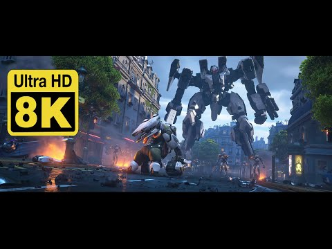 """Overwatch 2 Announce Cinematic   """"Zero Hour"""" 8k (Upscale with Machine Learning AI)"""