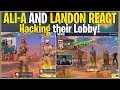 Hacking Ali-A and Landon's Fortnite lobby's *THEIR REACTIONS* | (Fortnite Battle Royale)