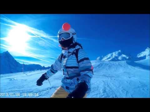 Snowboard freestyle sjcam