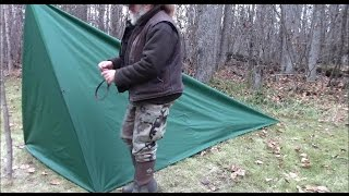 Make A Tent With Floor From A Tarp