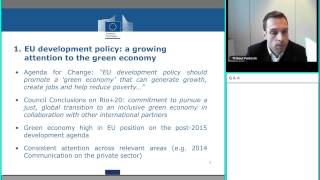 "Webinar ""Green growth and poverty reduction in Asia"" - Mr. Thibaut Portevin (EC Devco)"