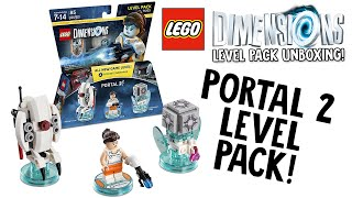 LEGO DIMENSIONS PORTAL 2 LEVEL PACK UNBOXING!!! (LEGO Set No. 71203)