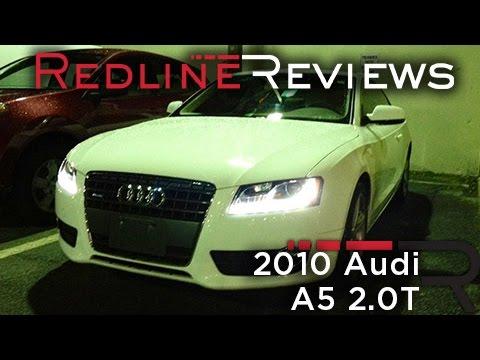 2010 Audi A5 2.0T Review, Walkaround, Start Up, Test Drive