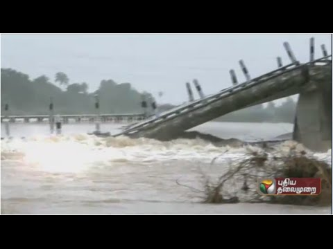 Kosasthalai River causeway breaks  transport affected