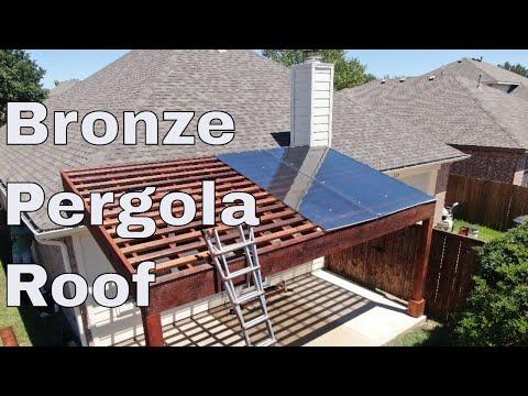 bronze pergola roof installation