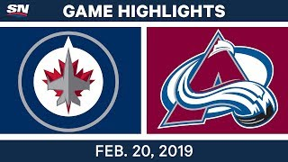 NHL Highlights | Avalanche vs. Jets - Feb 20, 2019 by Sportsnet Canada