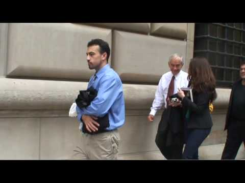 new york fed - On September 29th 2009 Ron Paul hosted a book signing for 'End the Fed' at the Borders Books in the financial district of New York. While being escorted to a...