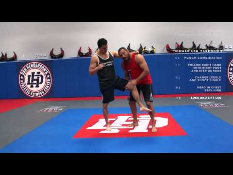 Dan Henderson MMA Techniques of the Week Single Leg Takedown Right vs Right Hand
