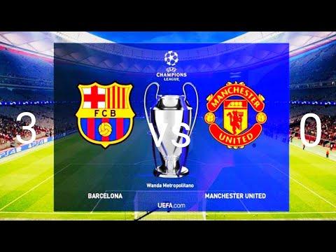 Barcelona vs Manchester united 3-0 Highlight & gol HD
