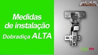 Dobradiças FGVTN M Slide-On | Marceneiro Expresso