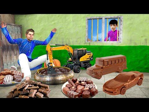 चॉकलेट वाहन खिलौने वाला Chocolate Vehicles Toys Wala Comedy Video हिंदी कहानिया Hindi Kahaniya Video
