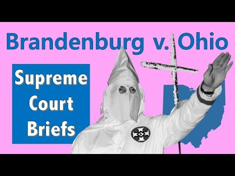 Is Hate Speech Legal? | Brandenburg V. Ohio