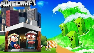Video MIASTO VS CREEPER TSUNAMI -  MINECRAFT TSUNAMI CHALLENGE | Vito VS Bella MP3, 3GP, MP4, WEBM, AVI, FLV Maret 2019