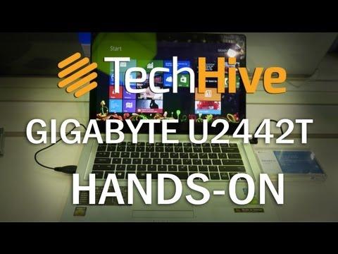 Gigabyte U2442T Notebook mit 14 Zoll Touchscreen im Hands-On