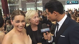"""Extra"""" caught up with the cast of """"Game of Thrones"""" on the red carpet, ahead of the show's big Emmy win for Outstanding Drama."""