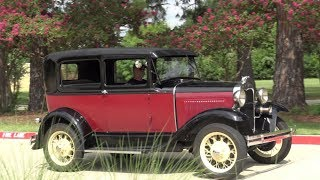 """Take a retro tour & up close look 4K ultra high definition look at this 1930 Ford Model A Tudor Sedan. I visited an old client & we took their """"A"""" for a spin. Be sure to follow me here on YouTube and on Facebook for classic cars, antique cars, musclecars, sports cars, and more unique collector cars. I market specialty cars for a living. Inquire at 972-748-6389 or email me through Facebook. Thank you .Samspace81 - https://www.facebook.com/samspace81/"""