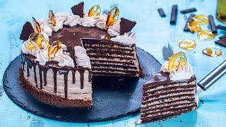 Chocolate Medovik - Chocolate Honey Cake