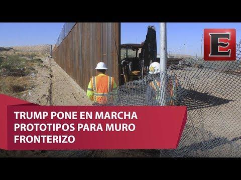 Avanza la construcción de prototipos para muro fronterizo