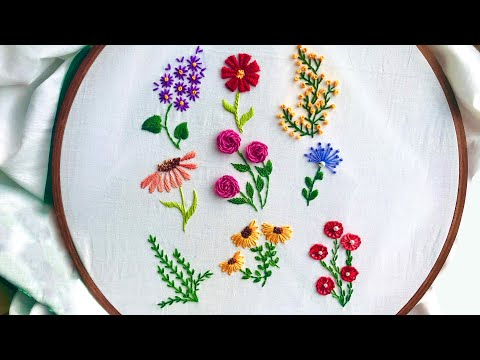 Hand Embroidery: 9 Amazing Embroidery Stitches For Beginners / Stitches For Small Flowers