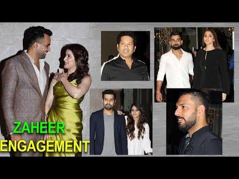 Video songs - Sagarika Ghatge & Zaheer Khans Engagement Party Photos  Sachin ,Kohli,YuvaRaj,Rohit Sharma