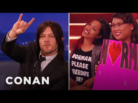Norman Reedus Loves To Lick People  – CONAN on TBS