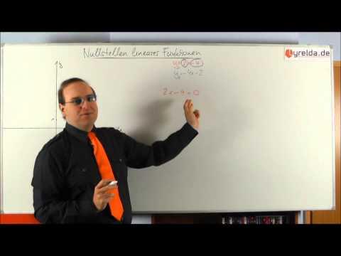 Nullstellen von linearen Funktionen