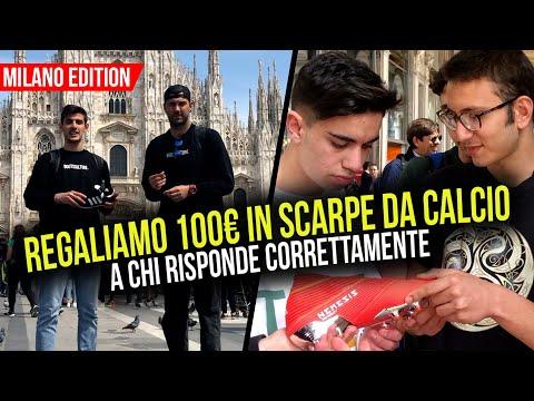 REGALIAMO 100€ IN SCARPE DA CALCIO a chi risponde correttamente!   Milano Edition
