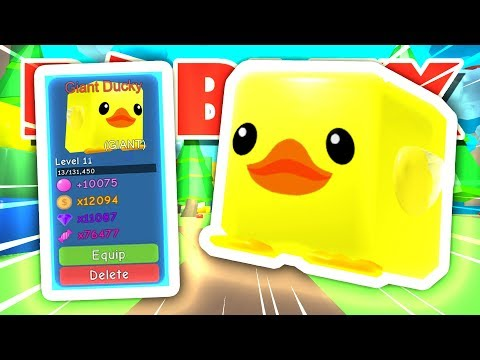 I USED CHEMICAL X TO CREATE *GIANT* DUCKY IN ROBLOX BUBBLEGUM SIMULATOR!!! [UPDATE 13] (Giveaway)