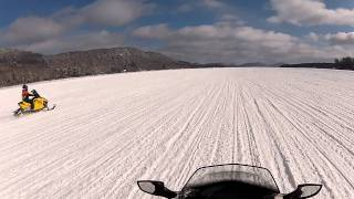 7. SkiDoo MXZ 1200 100MPH run on 4th Lake in Old Forge NY