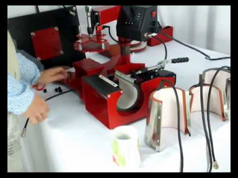 ECH-800 8 in 1 Combo Heat Press Machine for T-shirt,Plates (2 sizes), Mugs(4 sizes), Caps