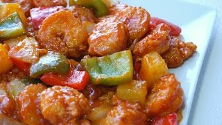 Sweet and sour shrimp is a Chinese food favorite! With this quick and easy recipe, you can try it at home now!Sauce:1/3 Cup Pineapple Juice2 Tbsp Ketchup2 Tbsp Sweet Chilli Sauce1 Tsp Soy Sauce1 Tsp Vinegar1 Tbsp Sugar1 Tsp Corn starchShrimp1/2 lb Shrimp 1 Tsp Soy Sauce1 Egg1 Tsp Corn starch1 Cup Corn flourStir-fry1 Tbsp Garlic1/4 Onion1/2 Bell PepperPineapple CubesEnjoy!Music by BENSOUND http://www.bensound.com/royalty-free-...Creative Commons — Attribution 3.0 Unported— CC BY 3.0 http://creativecommons.org/licenses/b...Music provided by Audio Library https://youtu.be/gnvwBNvVfuU