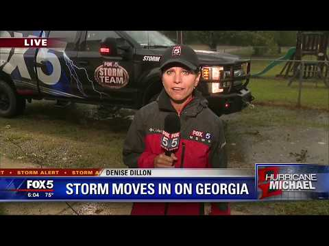 Storm moves in on Georgia