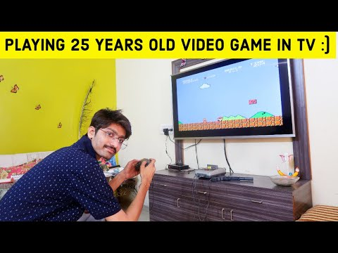 Playing TV Video Game | Super Mario | Contra | Old Video Games !