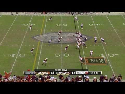 Ra'Shede Hageman vs Syracuse 2013 video.