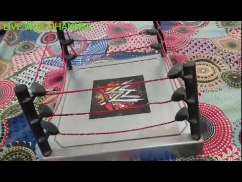 Wrestlemaina match (john cena vs undertaker)in toys addition.