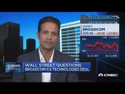 Broadcom shares down after CA deal