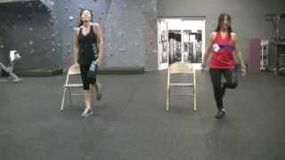 Chair Fitness Choreography with Kit and Lisa - Cumbia Sexy - Juanes