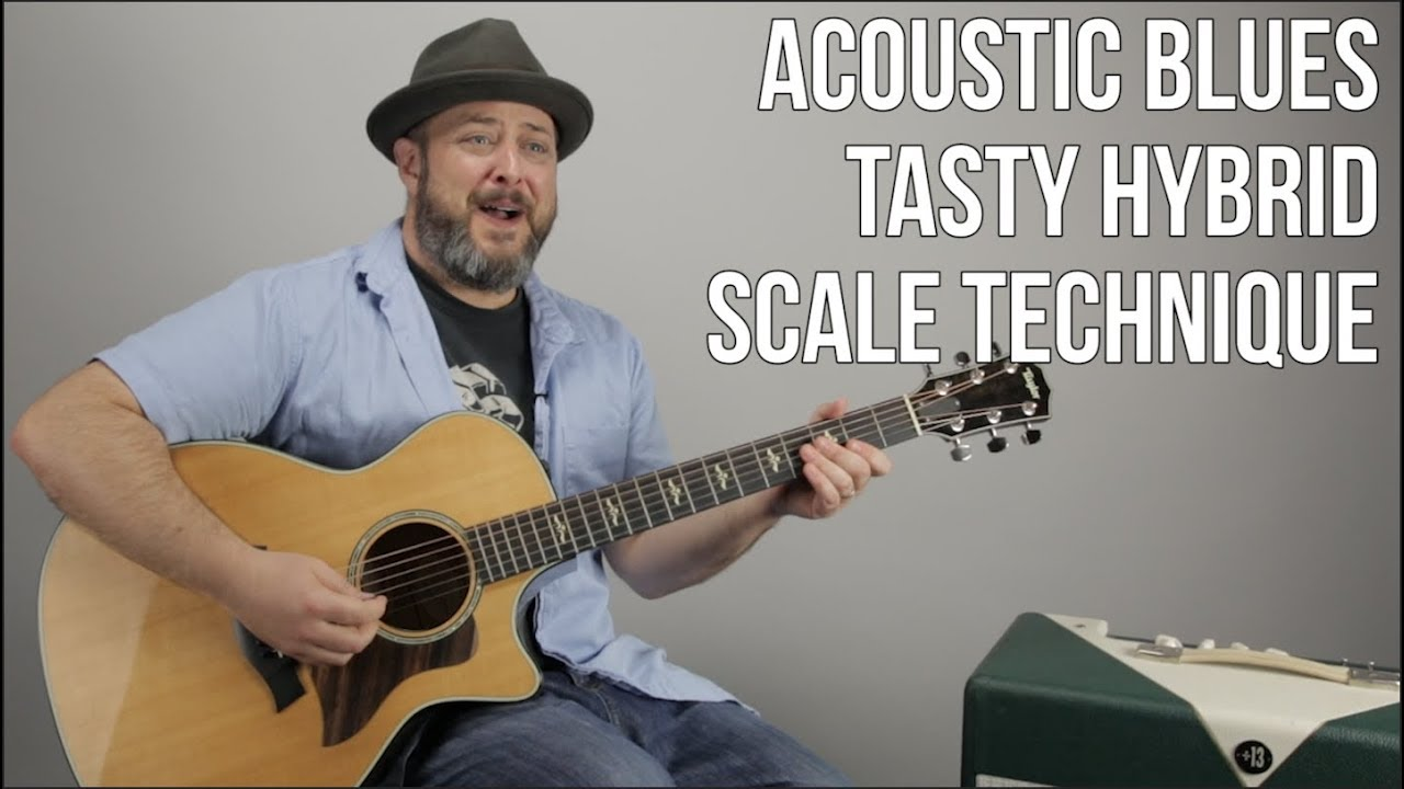 Acoustic Blues Guitar Lesson – Scale Hybrid to Mix Major and Minor Pentatonic