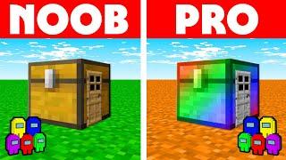 Among Us Vs Minecraft - NOOB VS PRO: CHEST HOUSE BUILD CHALLENGE! Minecraft Among us Animation